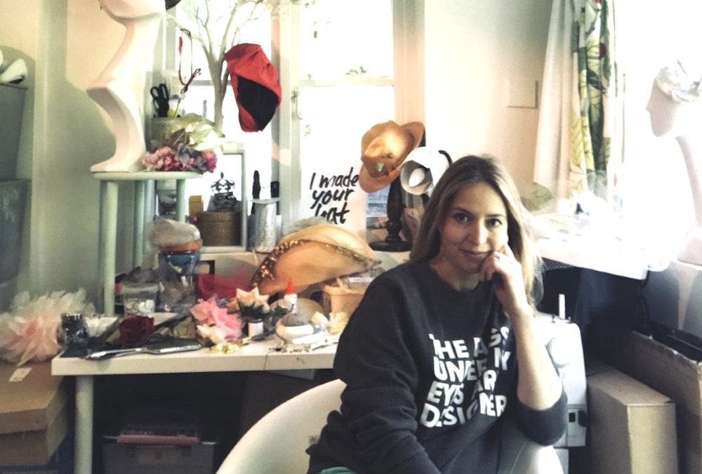 Tigg interviews local milliner for Draycott Diaries podcast